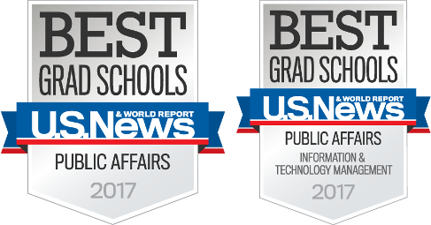 U.S. News & World Report Best Grad Schools in Public Affairs and Public Affairs Information & Technology Management